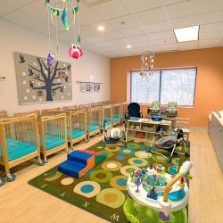 Infant classroom at Strong Start Early Learning Center