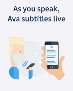 As you speak, Ava subtitles live!