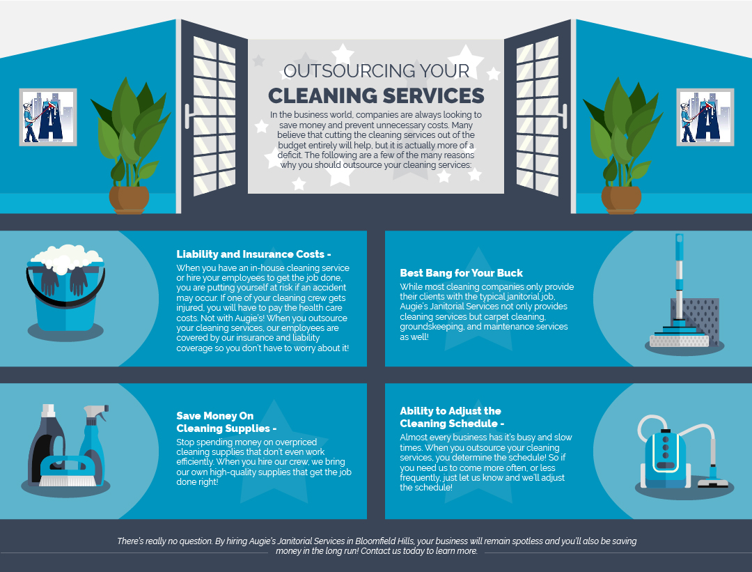 Why You Should Outsource Your Cleaning Services - Blog and News for Augie's Building Services - Augies-Janitorial-Why-Outsource-Cleaning-IG-01-5c42047798d18