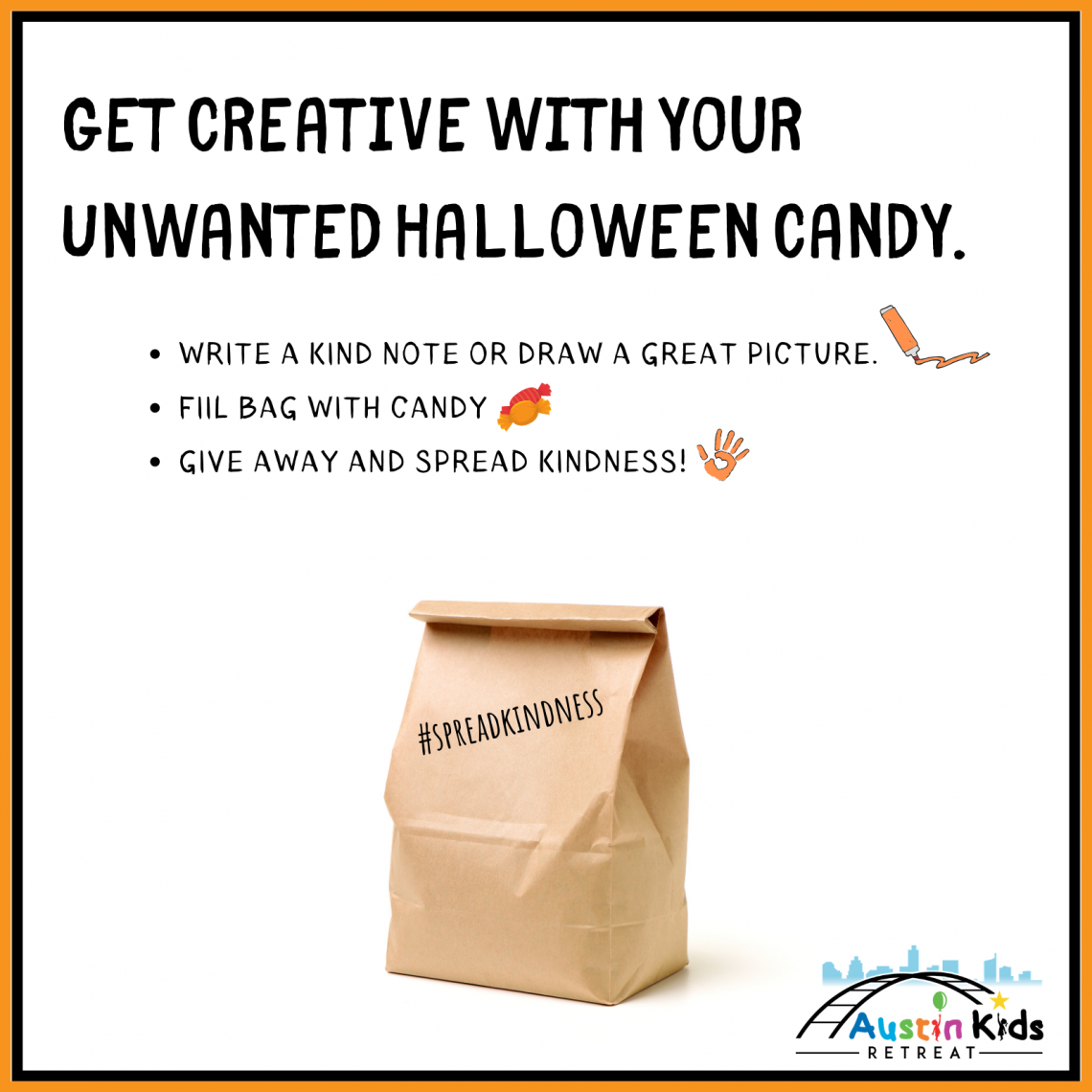 Spreadkindness with Halloween Candy