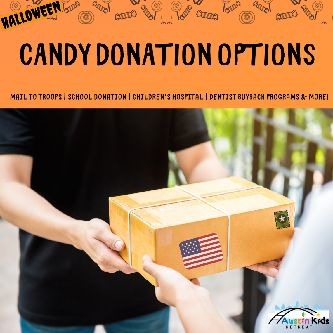 Austin Halloween Candy How to Donate