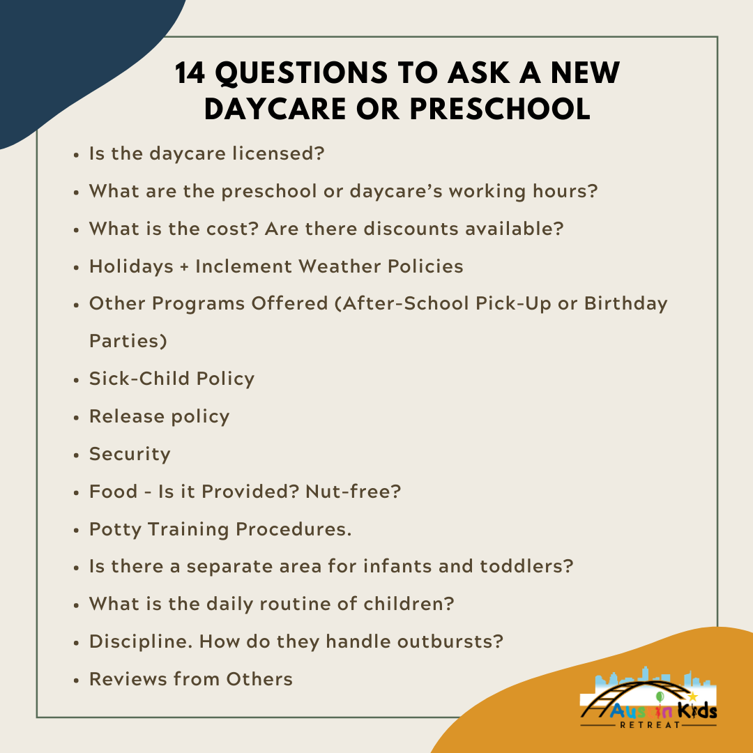 questions to ask a new daycare or preschool