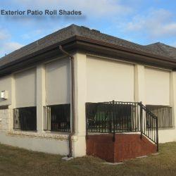 Beige Exterior Patio Roller Shades - Austin Shade Team