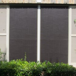 Custom Fit Black Sun Screen Fabric - Austin Shade Team
