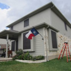 Black Solar Sun Screens Texas Windows - Austin Shade Team