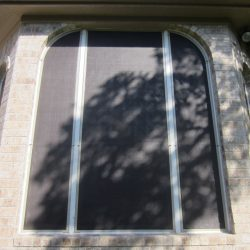 Custom Window Screens Black and White - Austin Shade Team