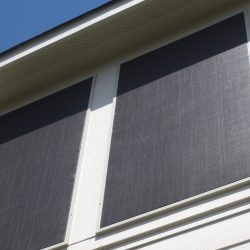 Black Exterior Custom Window Screens - Austin Shade Team