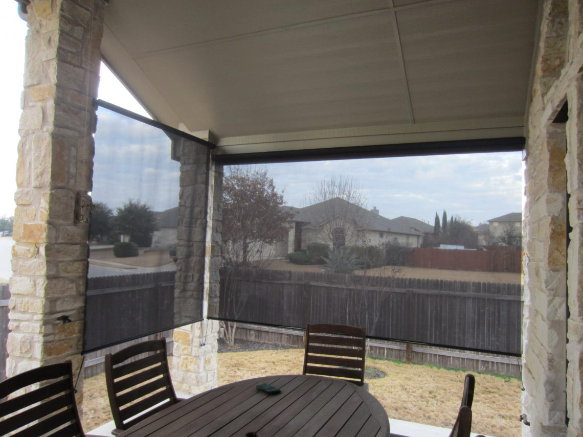 Outdoor Patio Sun Screens Black - Austin Shade Team