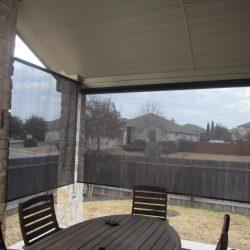Outdoor Patio Sun Screens Black - Austin Shade Team