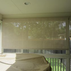 Patio Sun Screen Installation - Austin Shade Team