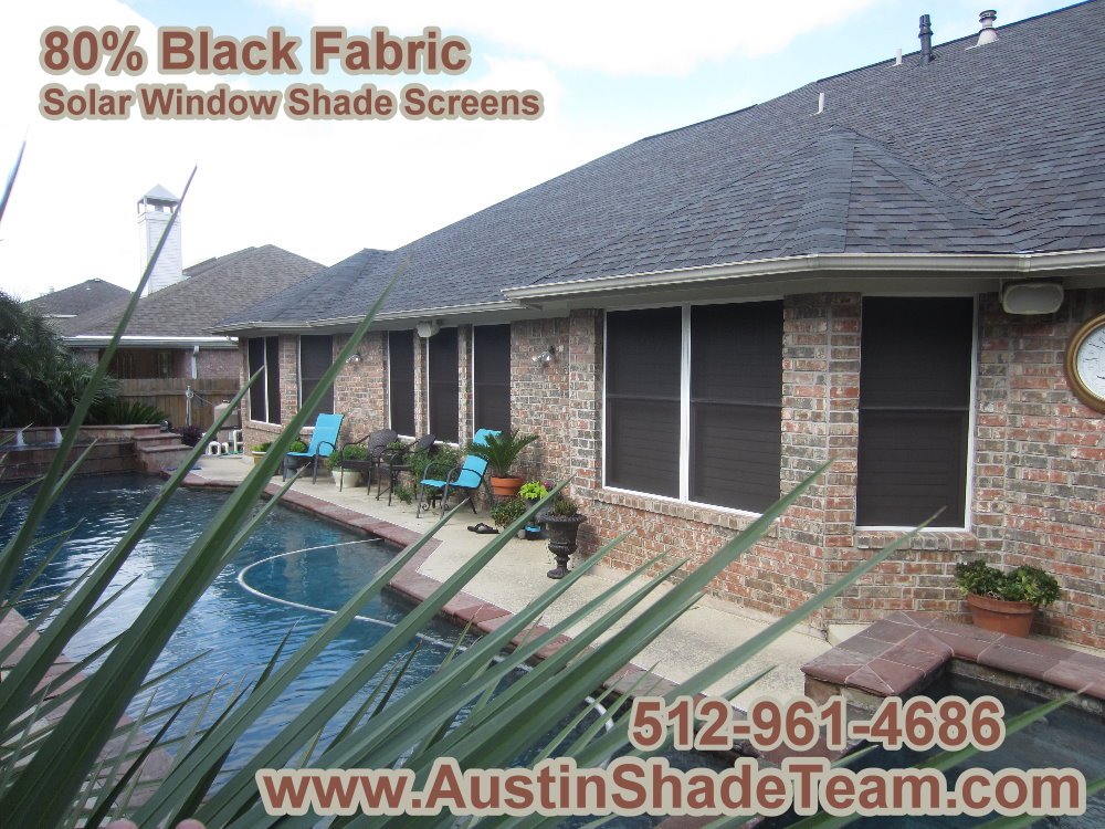 Austin Solar Sun Screens provide Sun Shade