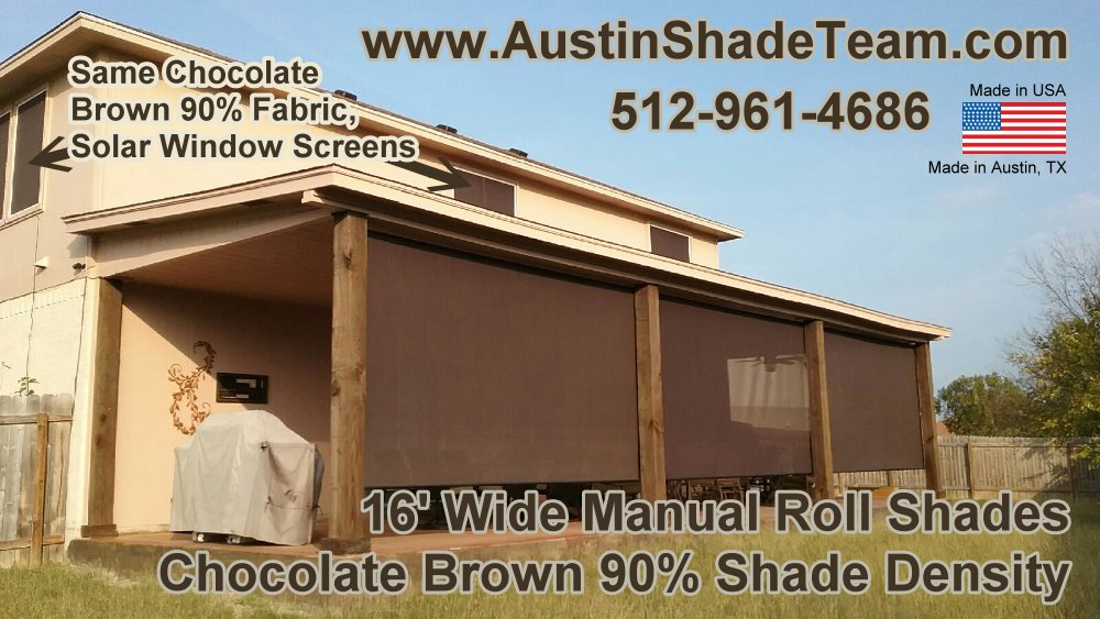 Exterior Roll Up Screen Shades