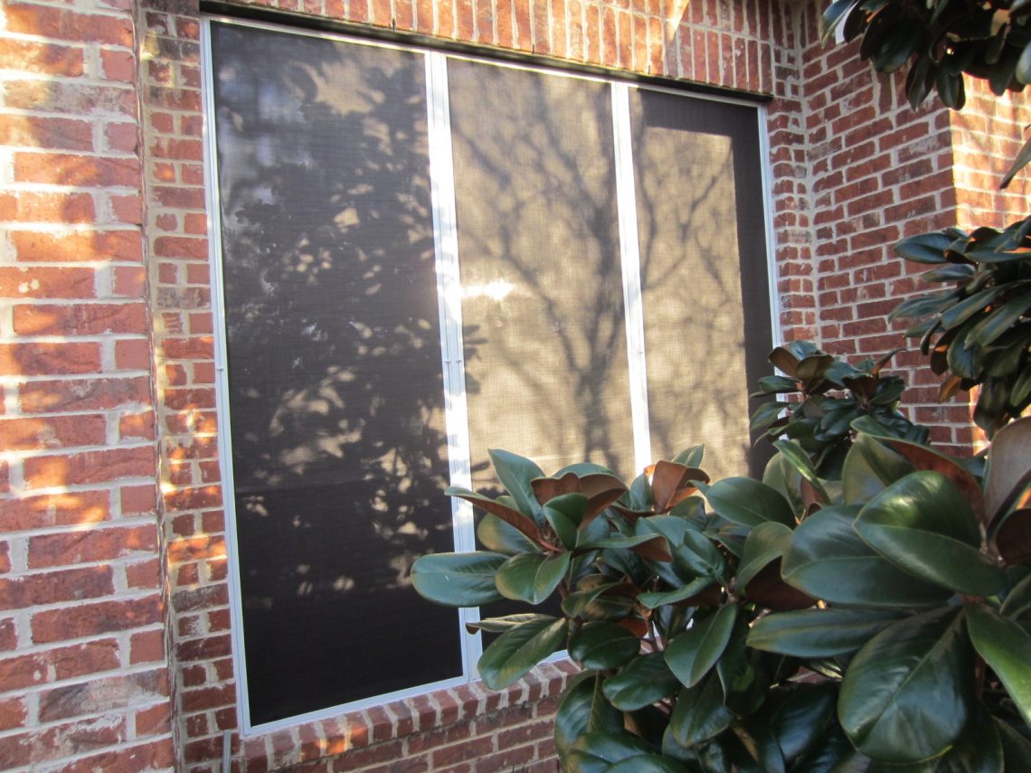 Triple set of solar window screens