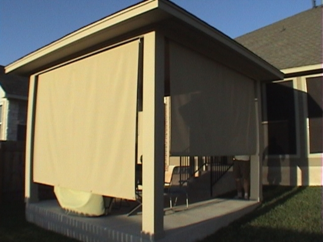Exterior Patio Roll Shade