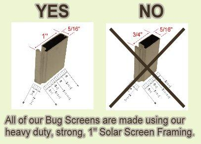 insect bug window screen framing