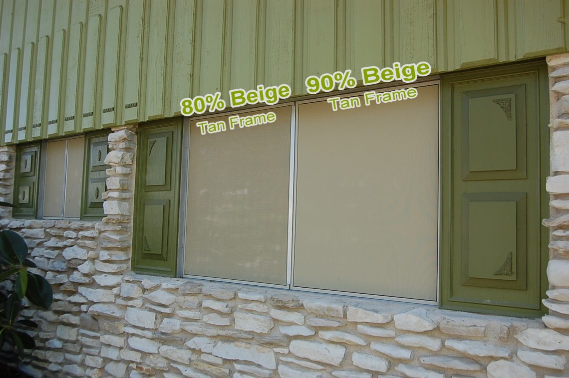 80% and 90% side by side solar screens