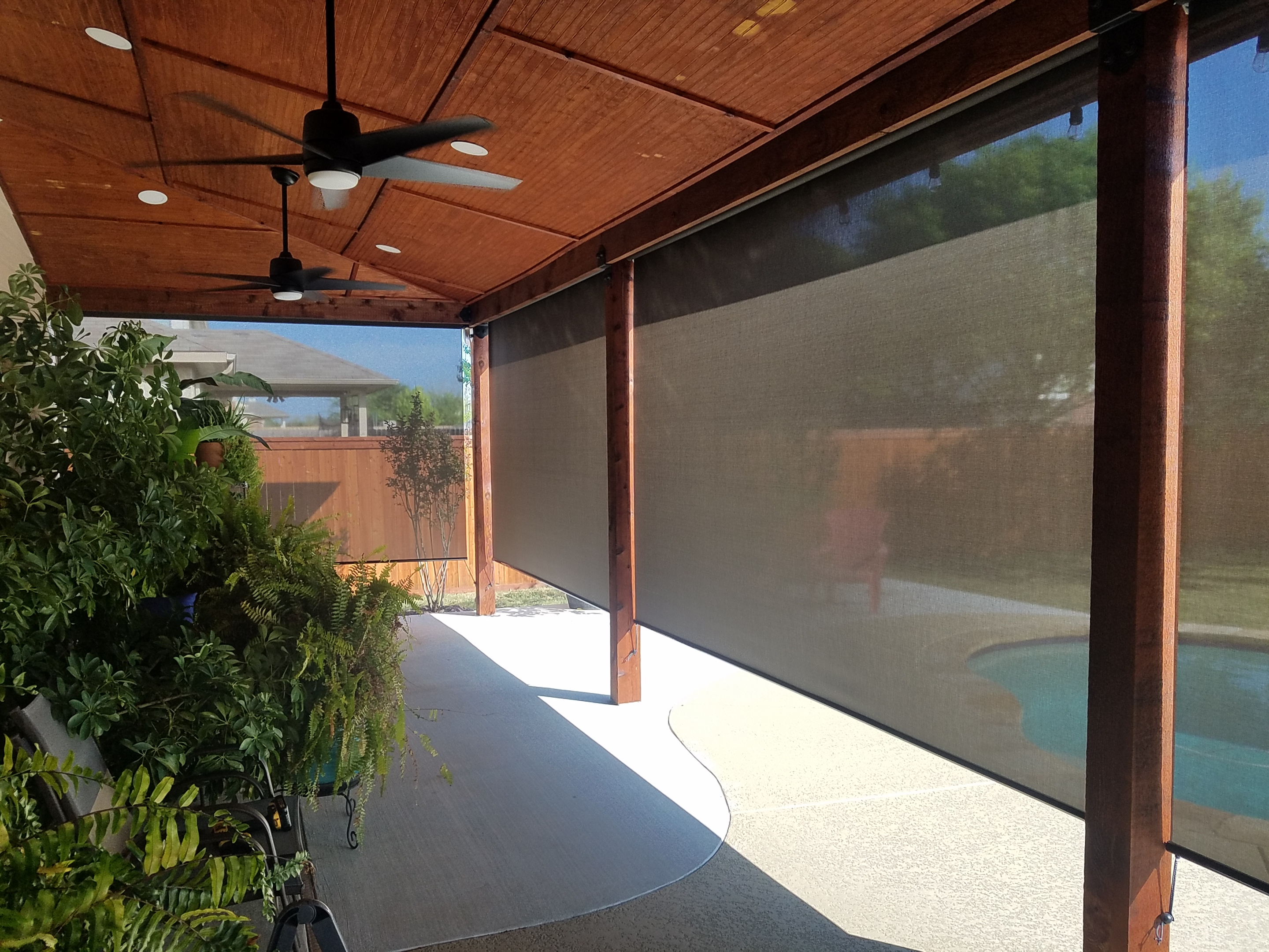 Patio with all opening shaded