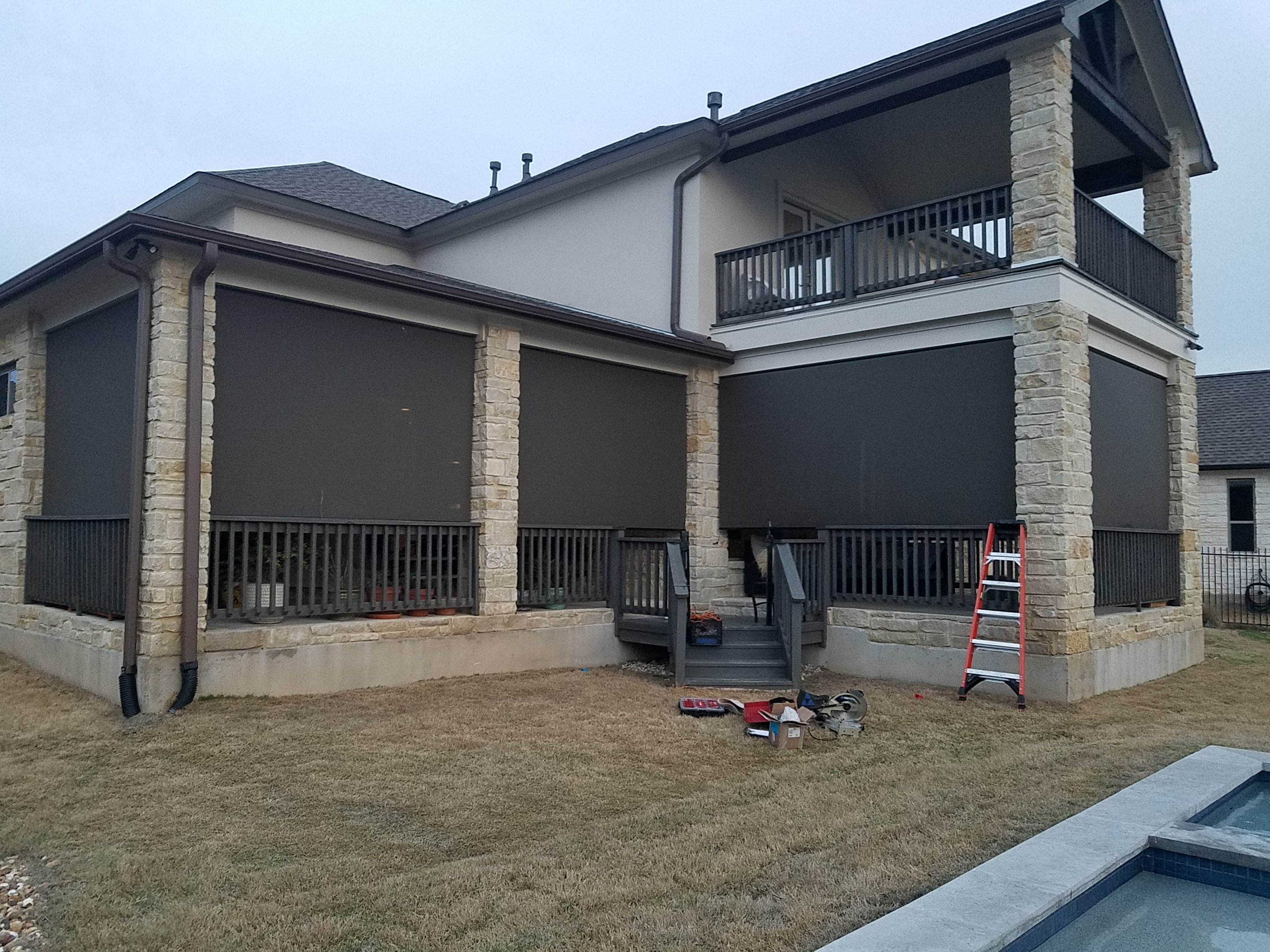 Shade all patio openings roller shades.
