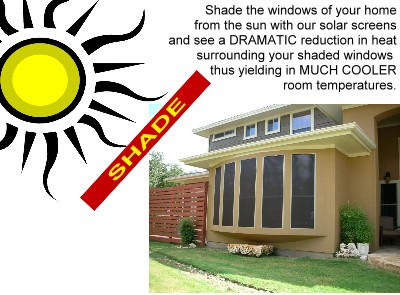 solar screens sit between the glass and the sun