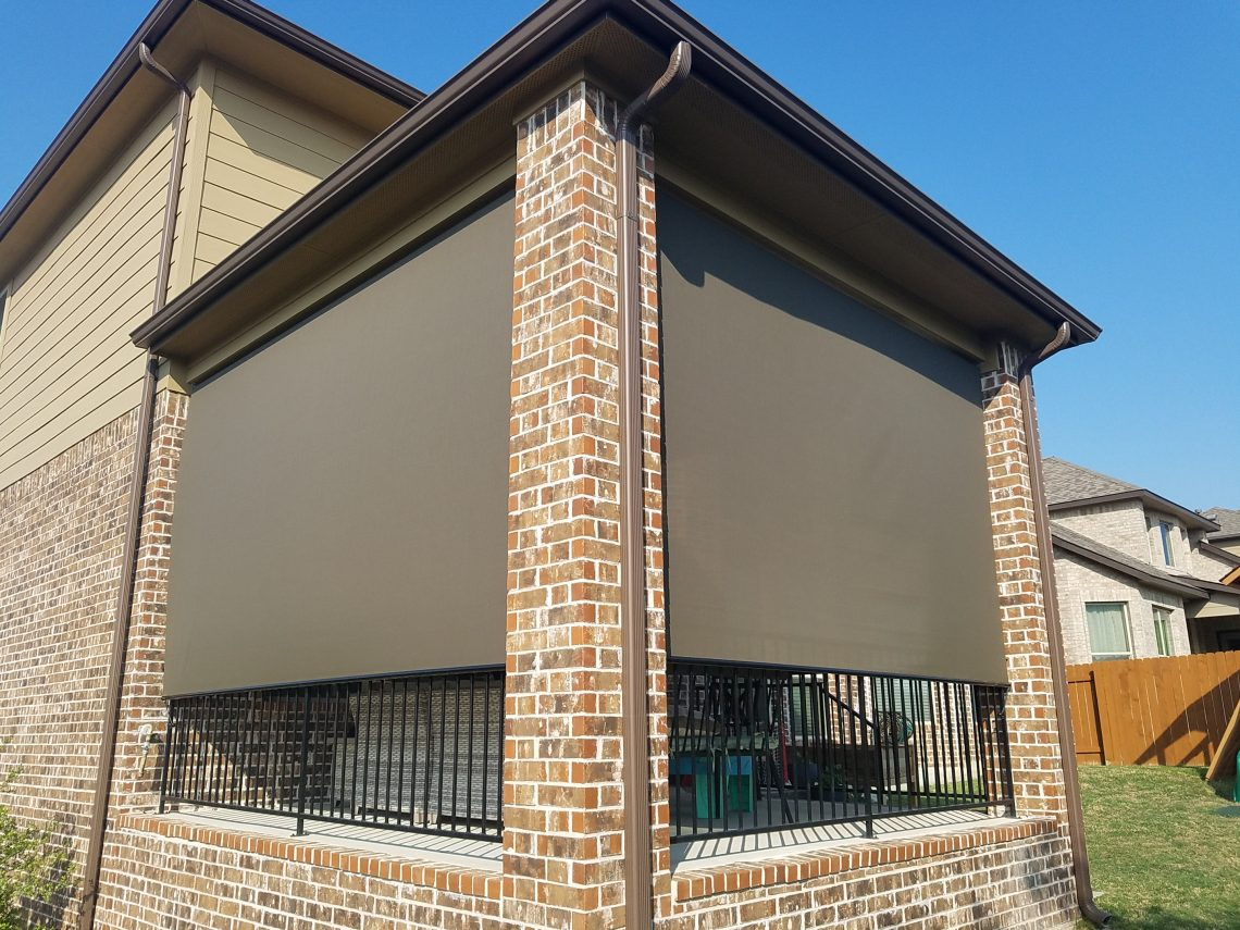$1100 outdoor patio shade install in Lakeway