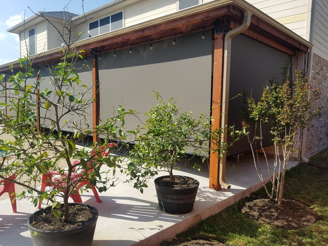 6 outdoor roller shades in Pflugerville TX