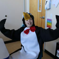 A child with autism dresses up for Halloween at the Autism Academy, located in Arizona.