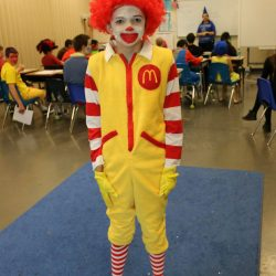 Getting into the Halloween spirit, this child with autism celebrates at the Autism Academy.
