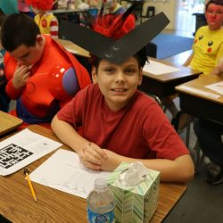On Halloween, students at the Autism Academy, a school for children with autism, enjoy dressing up.