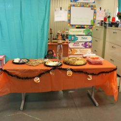 Sweets are featured for a Halloween party at the Autism Academy, a school for children with autism.