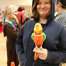 Children with autism participate in activities to celebrate Halloween at the Autism Academy.