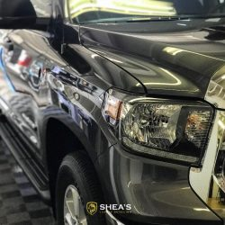 Front of a Ford F250 after luxury auto detailing in Honolulu