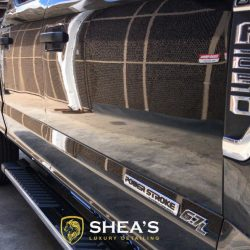 Black Ford F250 after luxury auto detailing from Shea's Luxury Detail