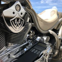 Motor on a motorcycle after luxury motorcycle detailing in Honolulu