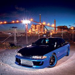Skyline GT-R at dusk with luxury auto detailing from Shea's Luxury Detail