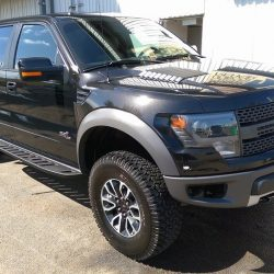 Luxury auto detailing for a black Ford truck