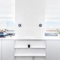 Two twistable thermostats on white wall Automated Lights and Shades Manhattan