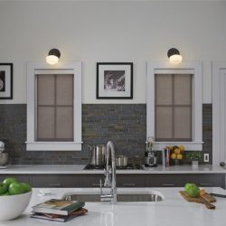 Kitchen sink with light fixtures on wall Automated Lights and Shades Manhattan