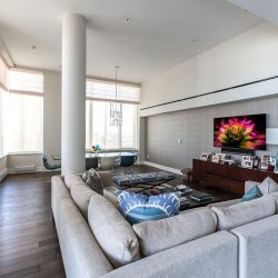 Luxurious living room with large windows Automated Lights and Shades Manhattan