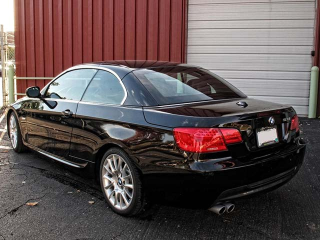 BMW Coupe From the Rear