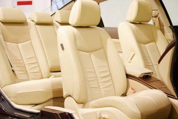 Light Tan Leather Car Interior