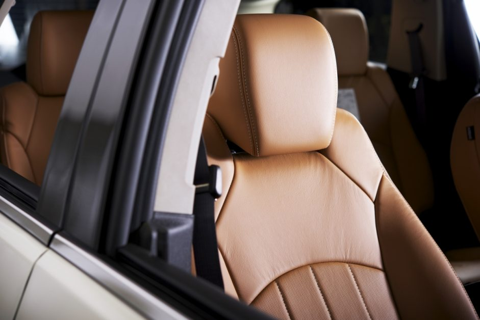 Tan Leather Passenger Seat