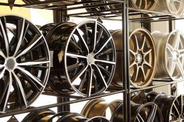 Tire Rims on the Shelf