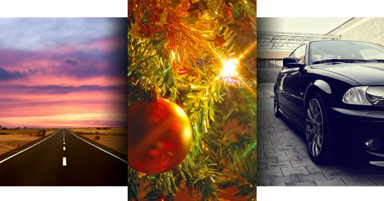 Holiday Driving Triptych