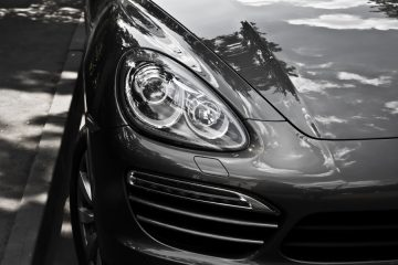 Porsche Headlight Closeup