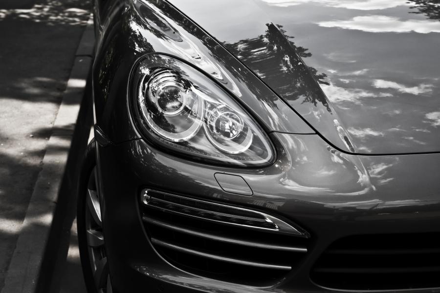 Porsche Headlight Closeup