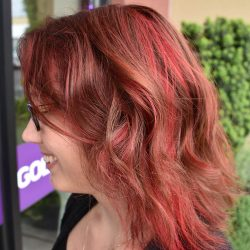 Fun artistic red hair color - Avenue Hair Salon