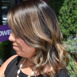 Dark brown hair with blond highlights - Avenue Hair Salon