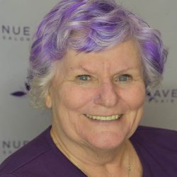 Woman with purple hair color - Avenue Hair Salon
