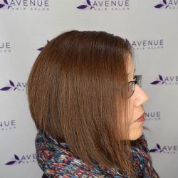 Asymmetrical hair style and color - Avenue Hair Salon