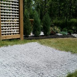 Landscaped Backyard With Permeable Grass Pavers - B8 Ventures